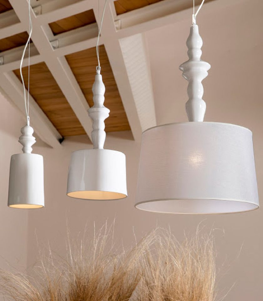Ceramic and Fabric Ali E Baba Pendant Light by Karman Distributed in Australia by LightCo