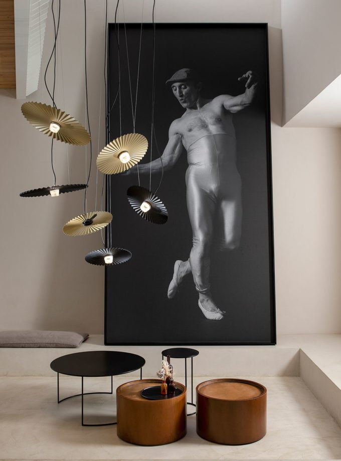 Gonzaga Pendant Light in Brass and Black by Karman distributed in Australia by LightCo