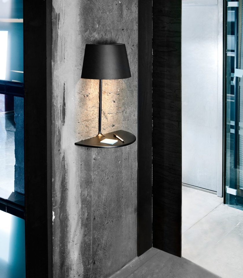 Black Illusion wall light by Northern distributed in Australia by LightCo