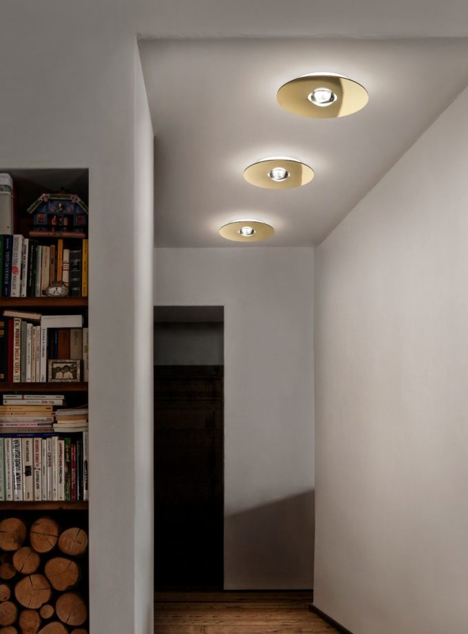 Bugia Ceiling Light by Studio Italia Design located in hallway of residential property
